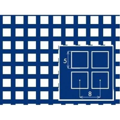 Перфорированный лист 1000x2000х1 PC Qg5-8