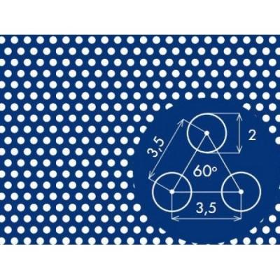 Перфорированный лист 1000x2000х1,5 PA Rv2-3,5