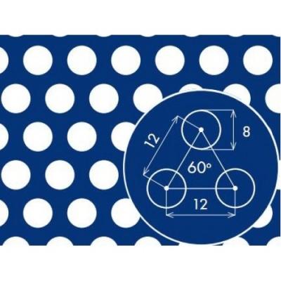 Перфорированный лист 1000x2000х1,5 PA Rv8-12