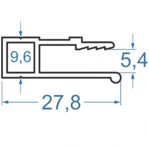 Гарпун алюминиевый 27.8х5.4 анодированный