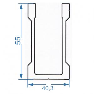 Профиль для креплений 40.3x55
