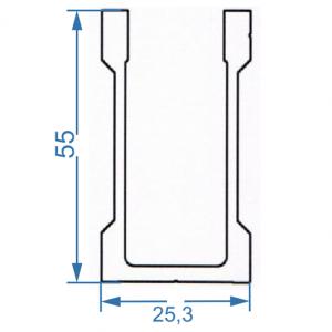 Профиль для креплений 25.3x55