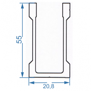 Профиль для креплений 20.8x55