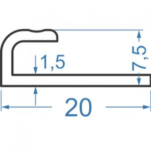 Алюминиевый L-профиль 20x7.5 анодированный