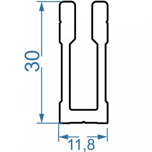 Профиль для креплений 11.8х30