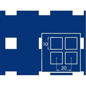 Перфорированный лист 1000x2000х2 PC Qg10-30