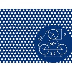 Перфорированный лист 1000x2000х1 PA Rv2-3,5
